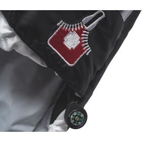 Grüezi-Bag Biopod Hybrid Wool/Down Śpiwór, black/tango red